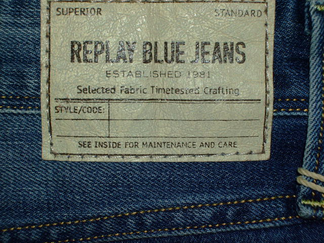 REPLAY ANBASS SLIM FIT SKINNY JEANS