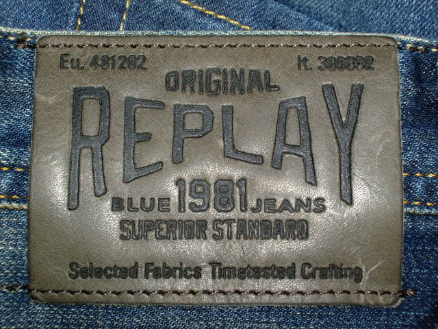 REPLAY WHEYHEY MA984 SLIM MENS JEANS 118 873 BLUE DENIM